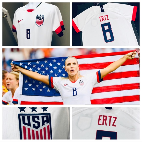 size 40 2283a 6cbaf 🏆 Men's Nike Julie Ertz #8 USA Home Soccer Jersey NWT